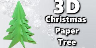 3D Paper Christmas Tree