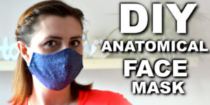 Face Mask sewing tutorial - with sewing face mask pattern. DIY face mask tutorial
