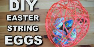 DIY Easter String Eggs - how to make a string egg