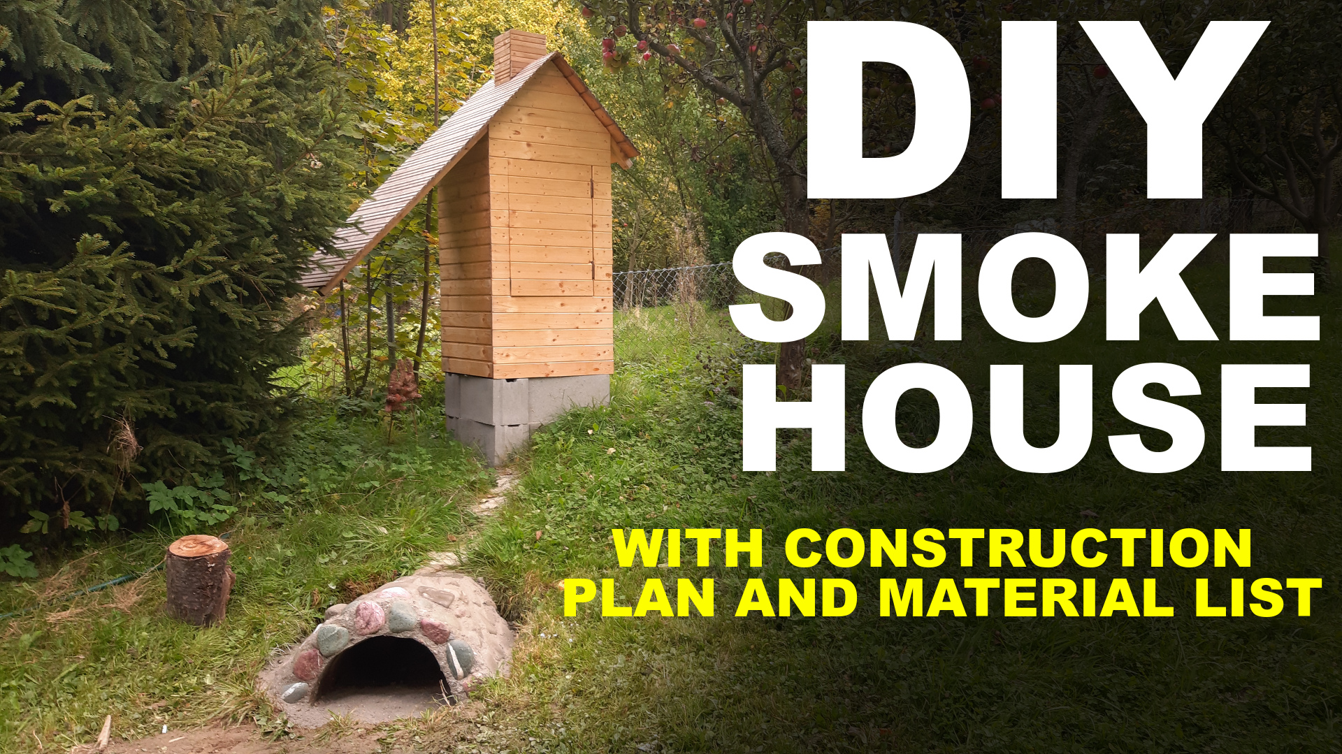 How To Build A Smokehouse - DIY smokehouse with Construction Plan and Material List