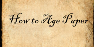 How to Make Paper Look Old - How To Age Paper