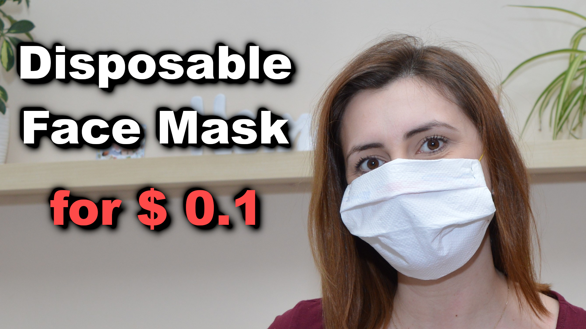 How to make a disposable face mask from a paper towel for only $ 0.1
