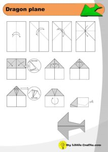 dragon paper plane origami diagram preview