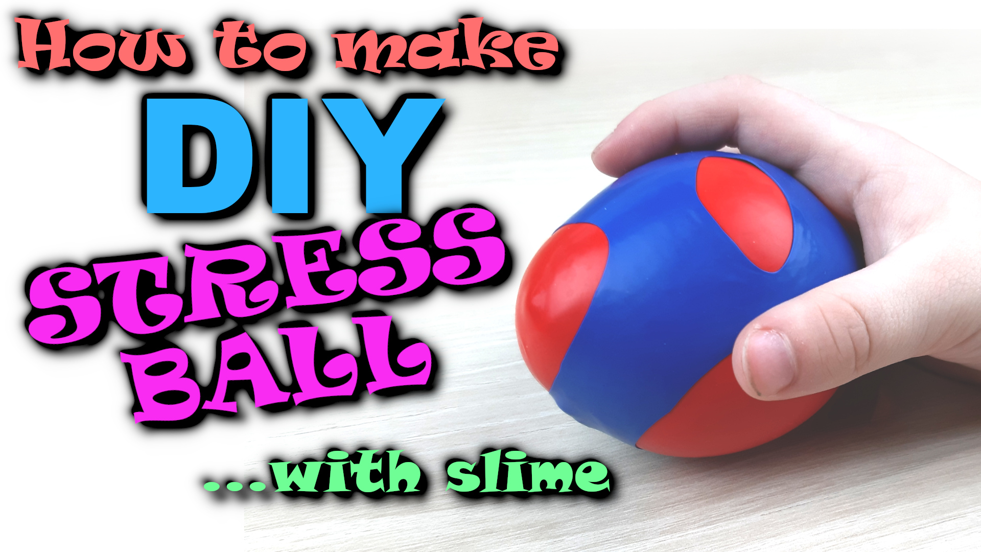 Slime Stress Ball - how to make best stress ball with slime