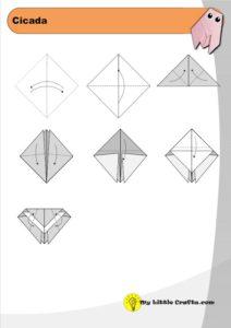 origami cicada diagram preview