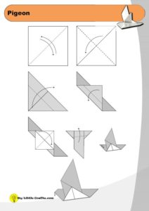origami pigeon diagram preview