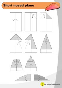 short nosed paper plane origami diagram preview
