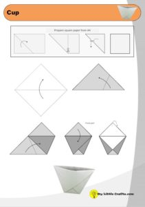 origami cup diagram preview