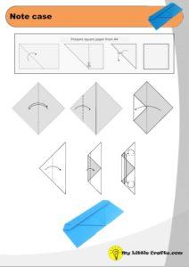origami note case diagram preview