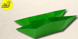Origami Twin Boat | paper boat
