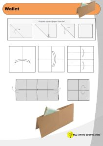 wallet origami diagram preview