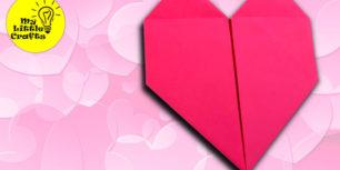 origami heart in bloom - paper heart