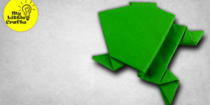 Origami Jumping Frog | How to make a paper frog