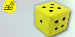 How to make a paper dice   origami dice