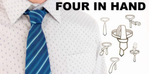 How to tie a tie | Four in hand knot