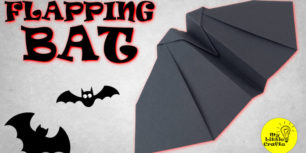 Origami Flapping Bat | How to make flying bird with Flapping Wings