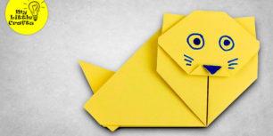 Origami siam cat - how to make paper cat
