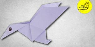 Origami flying duck