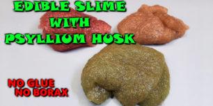 Psyllium Husk Slime | DIY NO GLUE slime using psyllium husk
