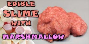 Edible slime with Marshmallow and Psyllium husks