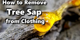 How to Remove Tree Sap from Clothing