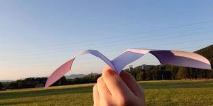 Longest flying paper plane - Seagull flying paper plane